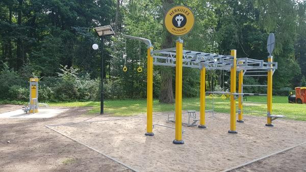 Powiat Suwalski zaprasza do Dowspudy na nowy, rozbudowany plac zabaw i siłownię zewnętrzną.